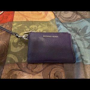 Small MK purple wristlet wallet
